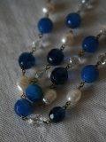 Collier Bleus/Perles