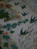 Carte Postale Hirondelles Trefles