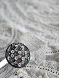 Bouton verre fleurs colore