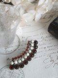 Broche Grenat/Perles