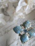 Broche Fleur Turquoise