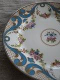 Assiette Porcelain Fleurs Turquoise