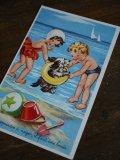 Carte Postale Baigneurs chein