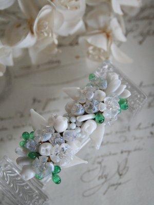 画像1: Broche Tiges Fleurs Madelaine Rivière