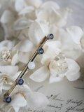 Broche Blanc/Bleus longue