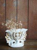 Vase mariee blanc/or