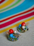 Broche Oiseau et Fruits